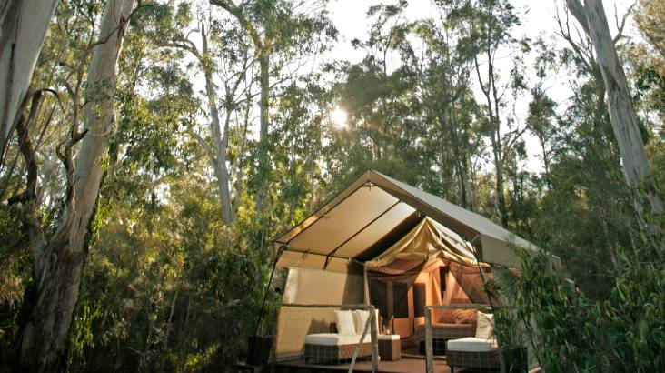 RedBalloon 2 Nights Deluxe Glamping with Breakfast and Dinner - Weekend