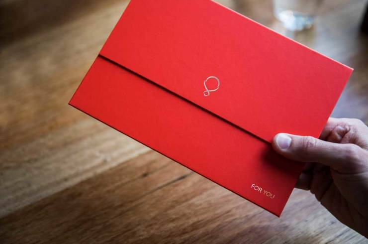 RedBalloon gift envelope