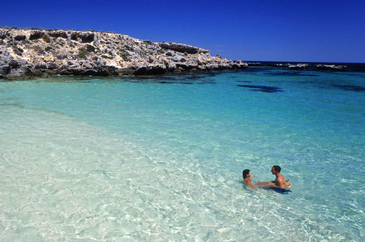 Couple Swimming at Rottnest Island
