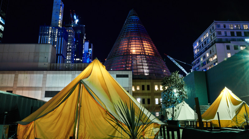 RedBalloon Luxury Rooftop Glamping in Melbourne CBD Midweek - For 2