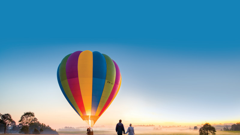 RedBalloon Hot Air Ballooning Over The Hunter Valley - For 2