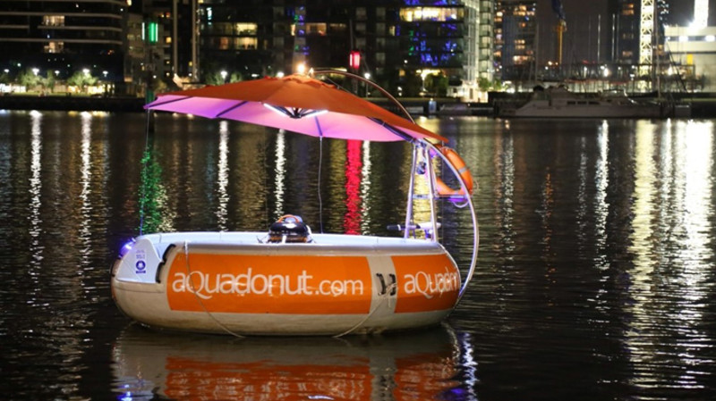 RedBalloon Aqua Donut Floating BBQ Rental - 2 Hours - For 10