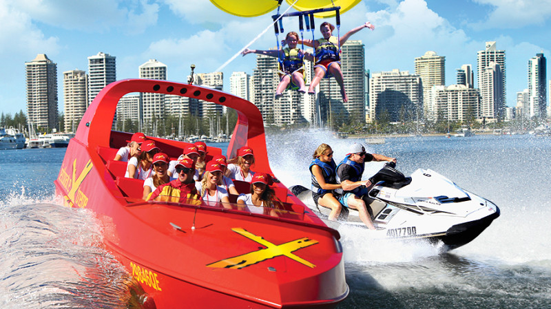 RedBalloon Parasailing, Jet Ski and Jet Boat Thrill Ride - For 2