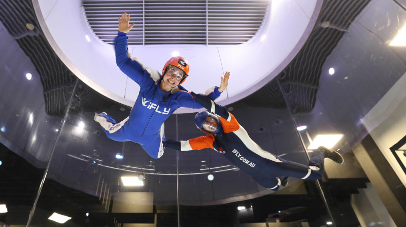 RedBalloon Indoor Skydiving Intro - 2 Flights - Monday or Tuesday