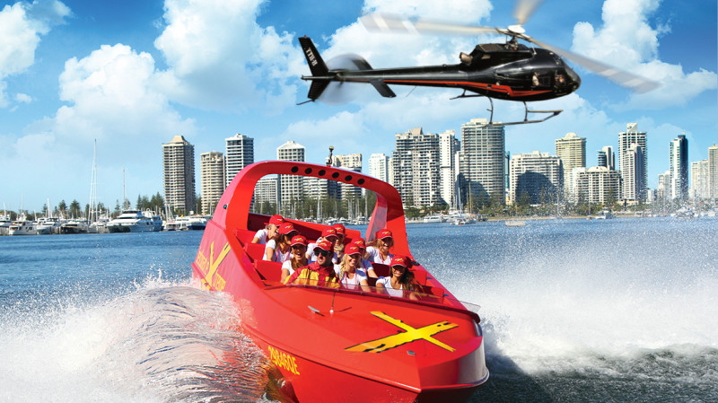 RedBalloon Jet Boat Thrill Ride and Helicopter Flight