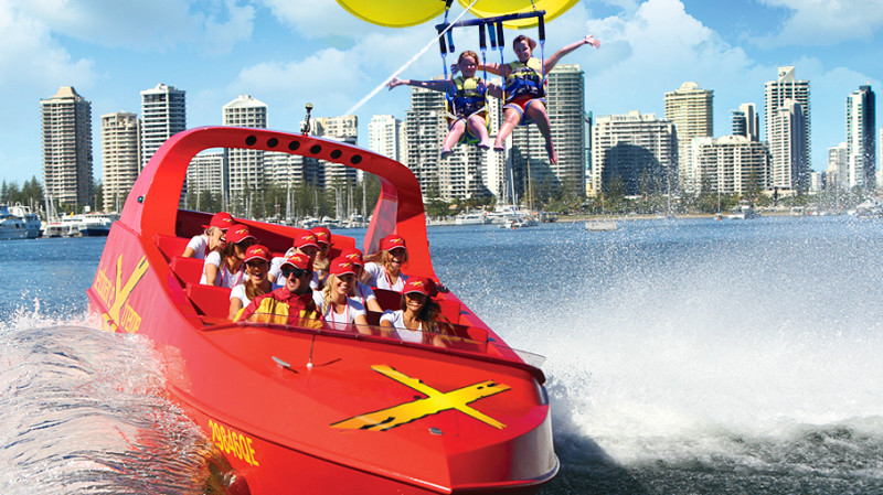 RedBalloon Jet Boat Thrill Ride and Parasail Experience - For 2