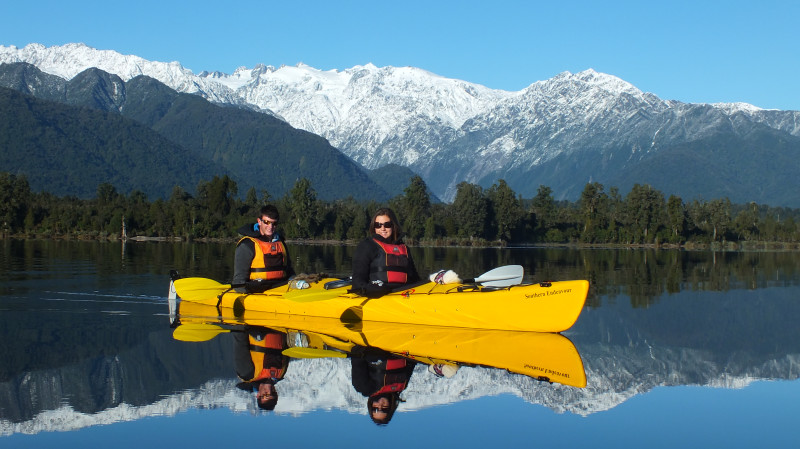 RedBalloon Guided Kayak Tour of Lake Mapourika with Photo - 3 Hours