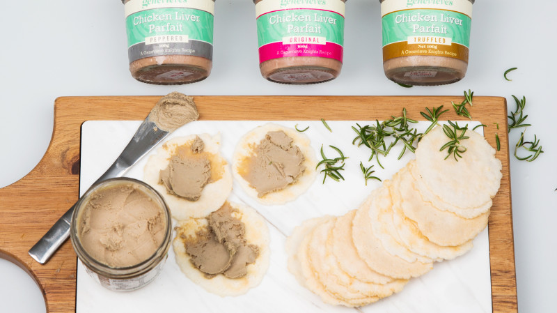 RedBalloon Chicken Liver Parfait Indulgence with Crackers
