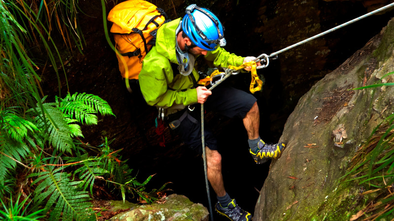RedBalloon Winter Canyoning Adventure - Blue Mountains
