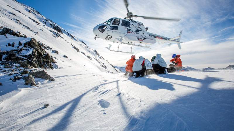 RedBalloon Heliski Day with Lunch and Transfers - 4 Runs