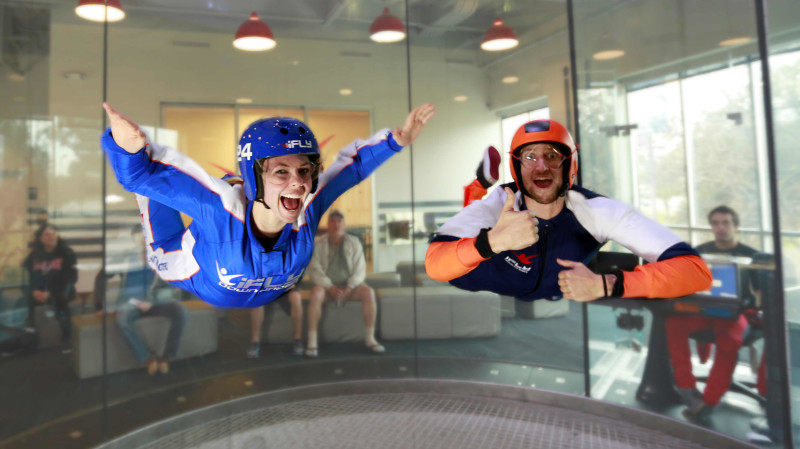 RedBalloon The Ultimate Thrill: Harley Ride and Indoor Skydiving