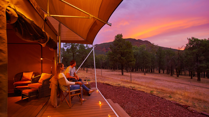 RedBalloon Flinders Ranges Glamping with Dinner and Breakfast - Midweek