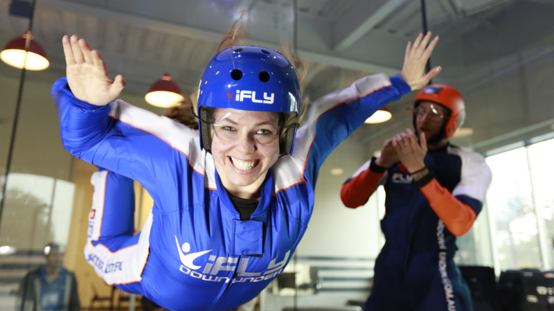 RedBalloon Indoor Skydiving Intro - 2 Flights - Midweek