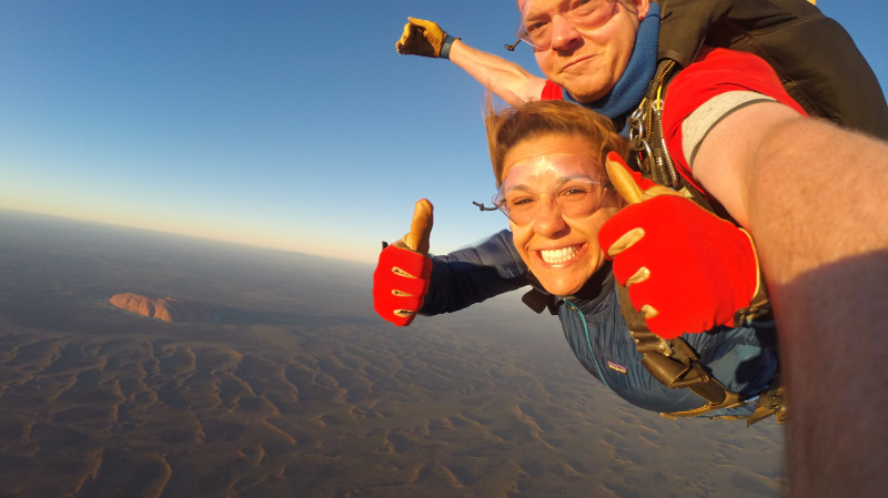 RedBalloon Uluru Sunrise Tandem Skydive - 12,000ft - For 2