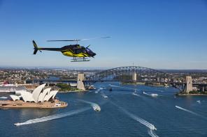 Helicopter Flight Over Sydney