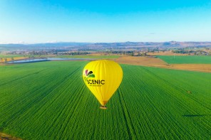 Hot air ballooning over the Gold Coast