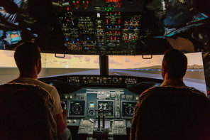 Jet flight simulator experience