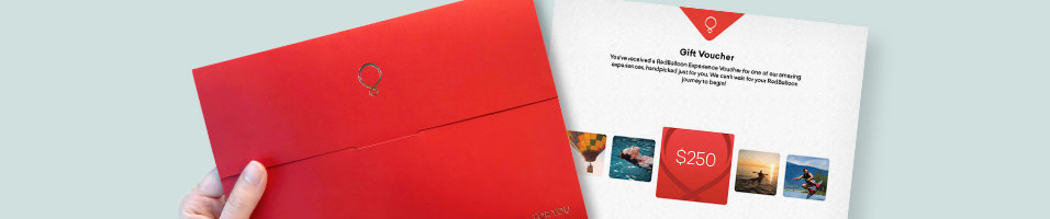 Give the Gift of Choice. All gift vouchers can be used to purchase any RedBalloon experience or product.