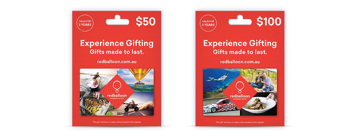 Australia redballoon Gift Cards
