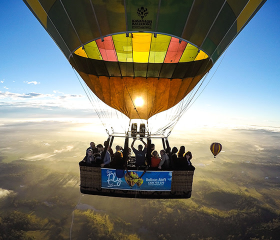 hot air balloon hunter valley