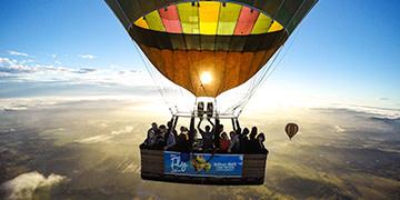 hot air ballooning Hunter Valley