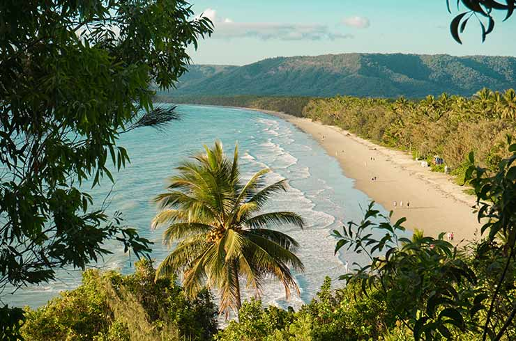 View over Four Mile Beach in Port Douglas