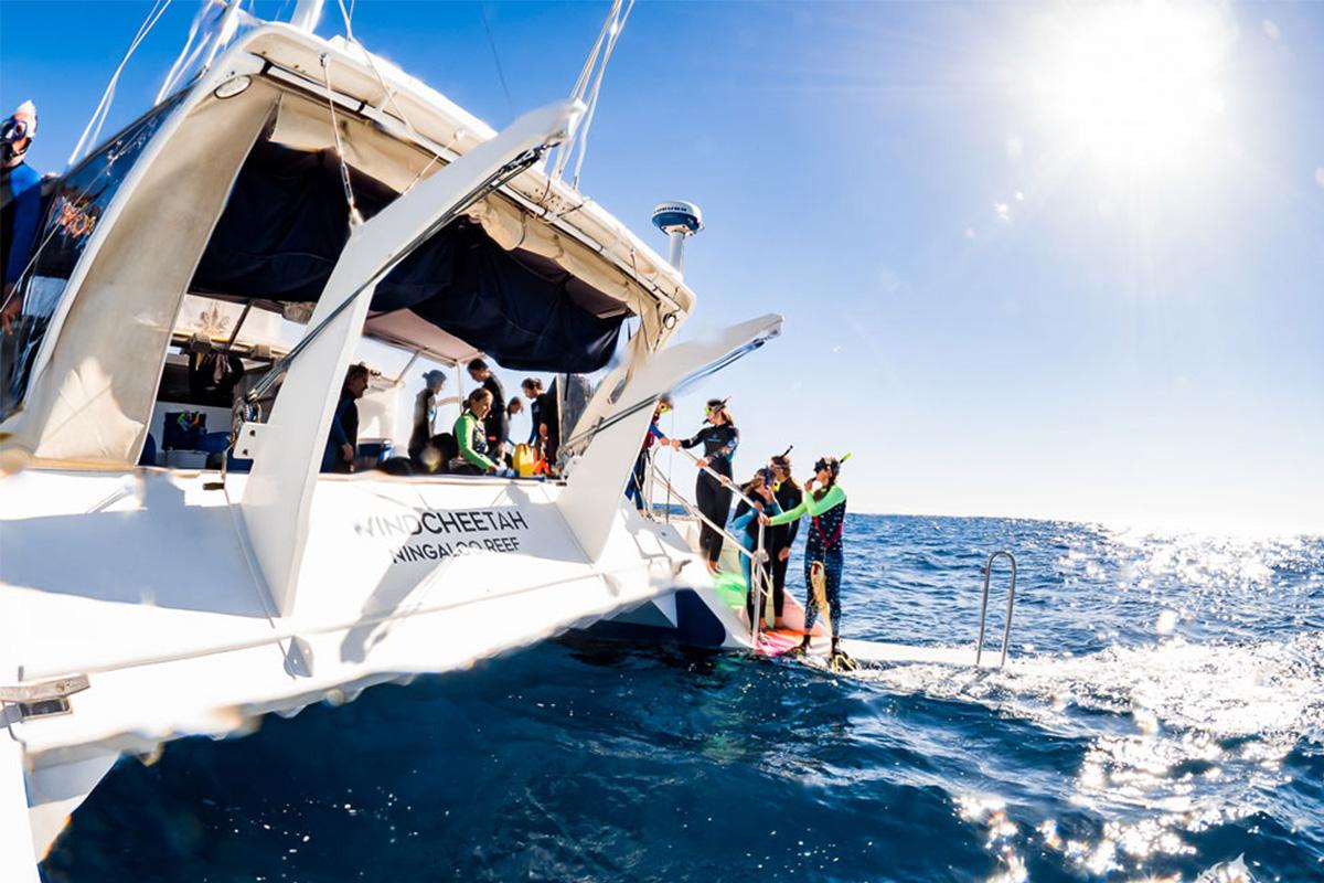 Catamaran on Ningaloo Reef