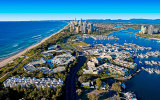 Helicopter flight over the Gold Coast Queensland