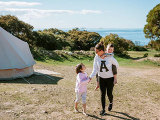 seaside glamping stay