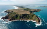 Seaplane flight over Phillip Island