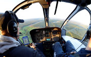 Helicopter flight lesson over Western Australia
