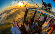 Hot air balloon flight over the Hunter Valley