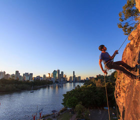 Sunset Abseiling at the Kangaroo Point Cliffs