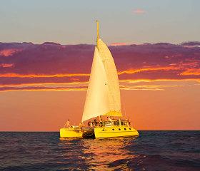 sunset catamaran cruise with sparkling perth