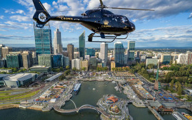 Perth city scenic helicopter flight