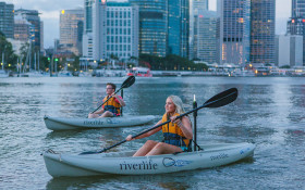 QLD: Twilight kayak tour with grazing board and wine