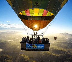 hot air balloon hunter valley