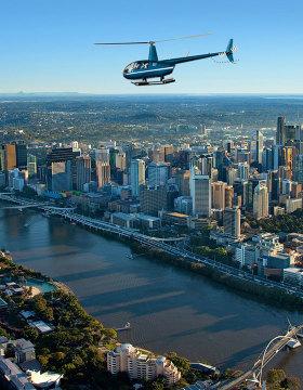 scenic helicopter flight brisbane