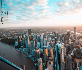 private helicopter flight sunset brisbane