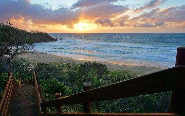 Sunshine Coast beach at sunrise