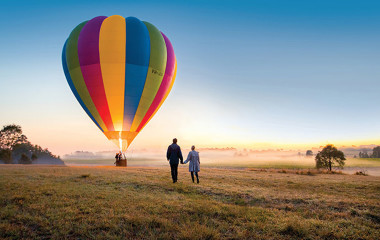 Hot air balloon ride in the Hunter Valley
