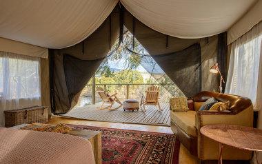 Derwent River glamping tent