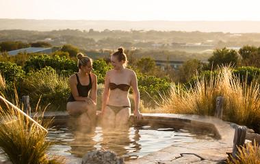 Best friends at Peninsula Hot Springs
