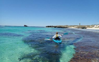 glass bottom kayak rottnest island