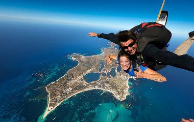 tandem skydive over rottnest island