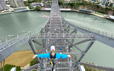 Walk the plank and climb Story Bridge