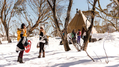 Snowshoe Walk with Cheese Fondue, Mulled Wine and Dinner