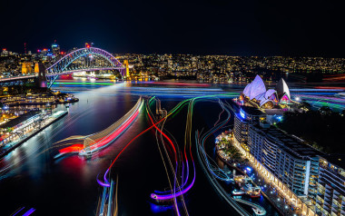 NSW: Vivid luxury yacht cruise with overnight stay