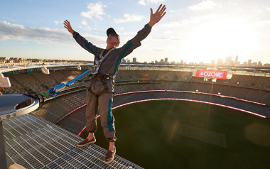 Optus stadium HALO twilight climb