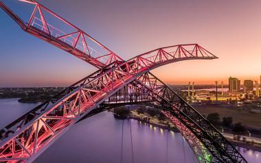 WA: Perth Bridge twilight zip and climb
